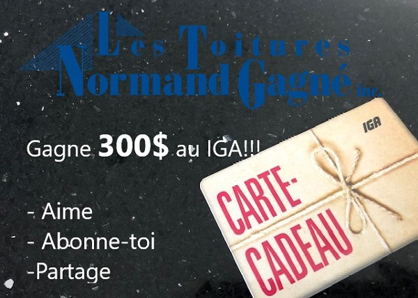 Concours Gagnez une carte cadeau de 300$ au IGA!