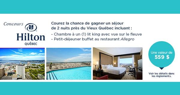 Concours Gagnez un séjour de 2 nuit près du Vieux Québec!