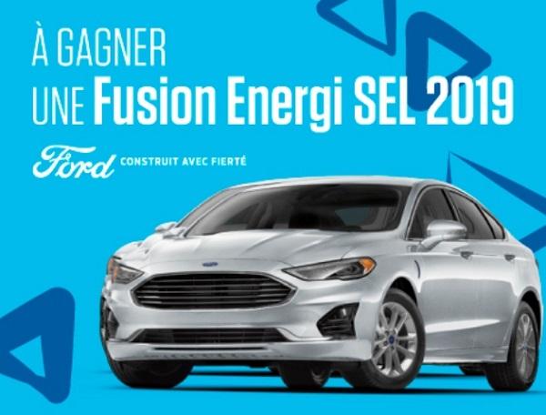 Concours Gagnez une location de 24 mois d'une Fusion Energi SEL 2019!