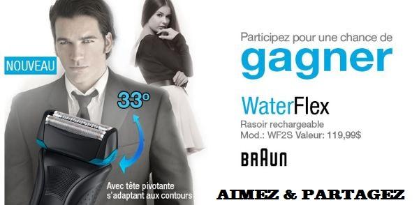 Concours gagnez un Rasoir WaterFlex de Braun