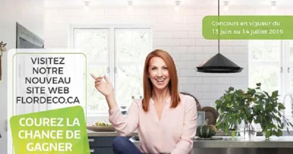 Concours Gagnez une carte-cadeau de 1000$ pour célébrer le lancement du nouveau site web Flordeco!