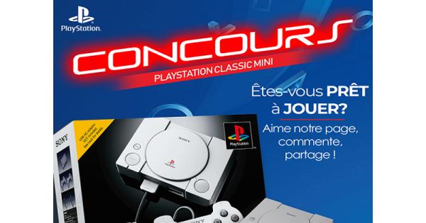 Concours Gagnez une console PLAYSTATION CLASSIC HDMI incluant 20 jeux!