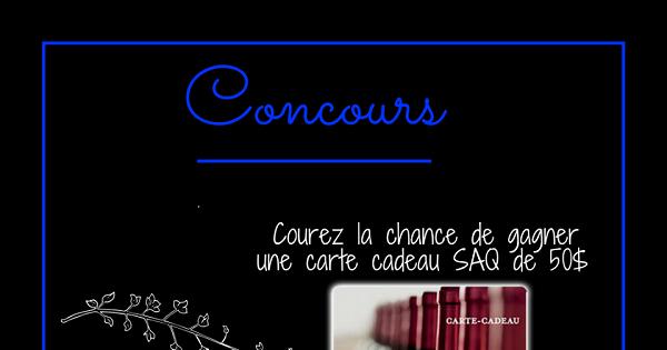 Concours Gagnez une carte cadeau SAQ de 50$!
