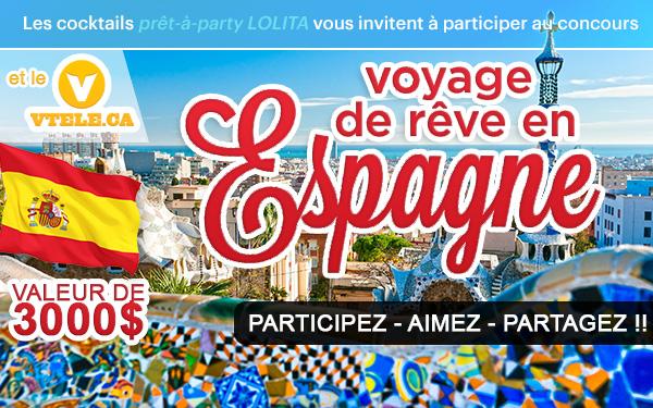 Concours gagnez un voyage de rêve en Espagne!