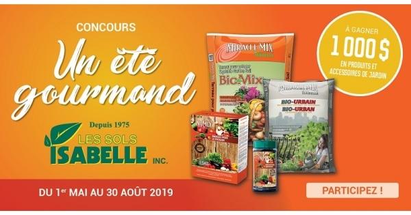 Concours Un été gourmand avec Les Sols Isabelle!