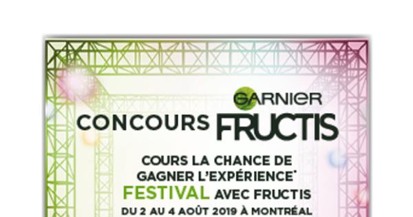 Concours Gagnez une expérience festival d'une valeur approximative de 2400$!