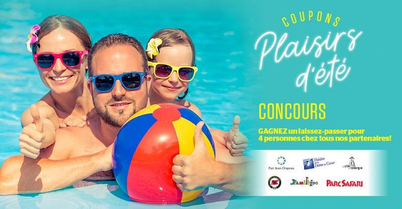 Concours Gagnez un laissez-passer pour 4 personnes pour une activité d'été!