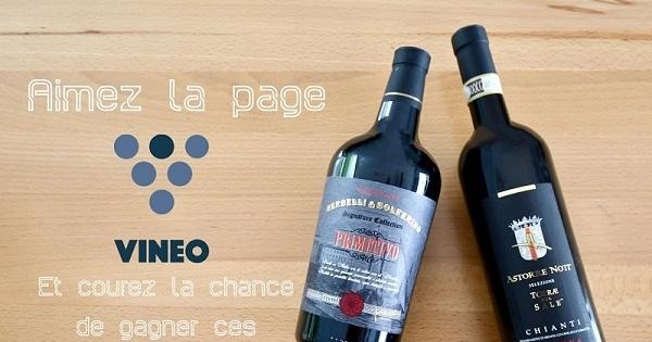 Concours Gagnez 2 bouteilles de vin offertes par  Vineo!