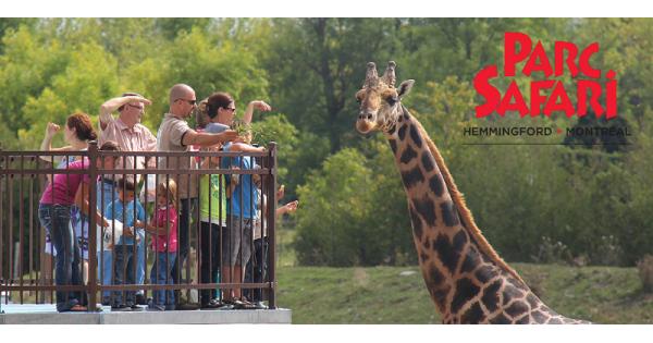 Concours Gagnez 4 billets pour visiter les fabuleux animaux du Parc Safari!