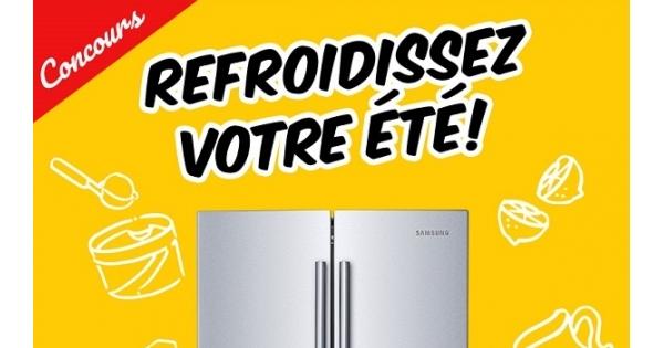 Concours Gagnez un réfrigérateur Samsung de 21,6 pi3!