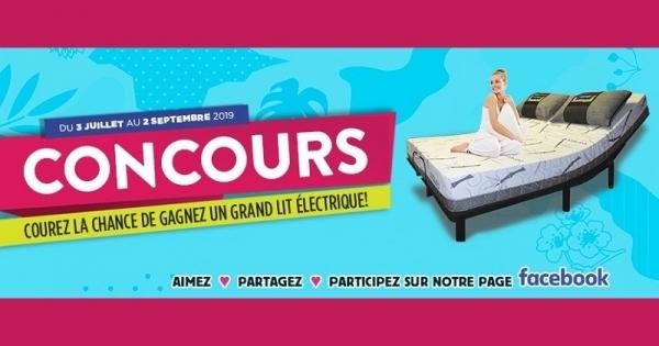 Concours Gagnez un lit électrique de format grand lit avec matelas inclus!