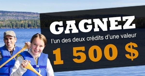 Concours Gagnez crédit d'une valeur de 1 500 $ applicable dans l'une des 9 pourvoiries dans Charlevoix!