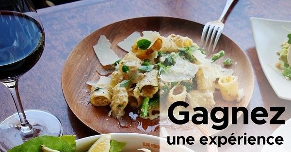 Concours Gagnez une expérience gastronomique au Chien Fumant!
