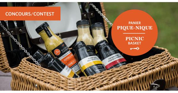 Concours Gagnez un magnifique panier à pique-nique rempli de produits Maison Orphée!