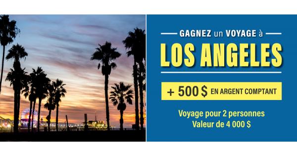 Concours Gagnez un voyage à Los Angeles!