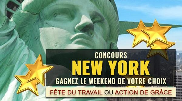 Concours Gagnez un WEEKEND pour 2 de 3 jours et 2 nuits à NEW YORK!