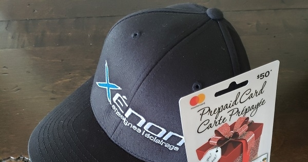 Concours Gagnez une carte prépayée de 50$ + une casquette offert par Xénon Enseignes & Éclairage!