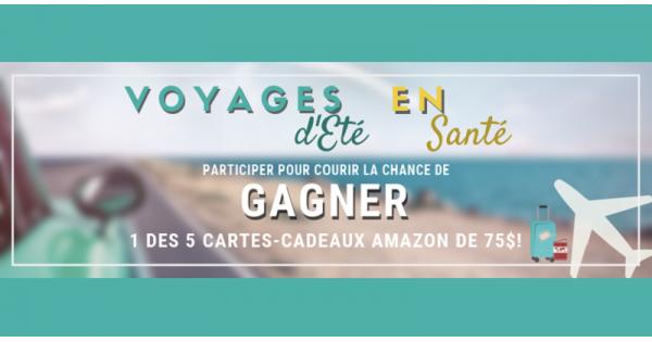 Concours Gagnez une des 5 cartes cadeaux Amazon de 75$!