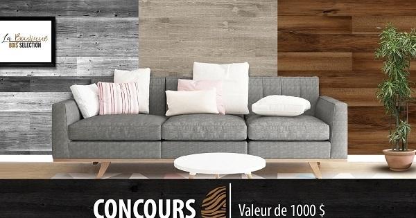 Concours Gagnez 1 000 $ de bois offert par La Boutique Bois Sélection!