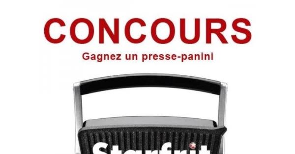 Concours Gagnez un presse-panini de Starfrit!