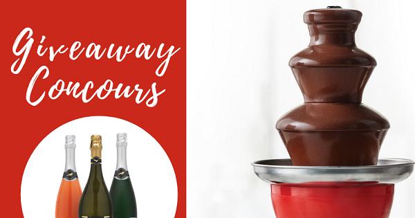 Concours Gagnez une mini fontaine à chocolat et une bouteille de mousseux St. Regis de votre choix!
