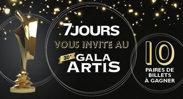 Concours 7 Jours vous invite au Gala Artis!