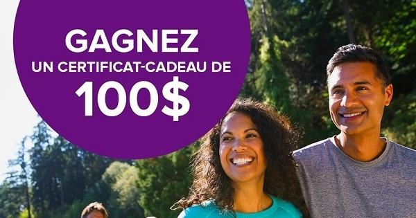 Concours Gagnez un certificat-cadeau Webber Naturals de 100$!