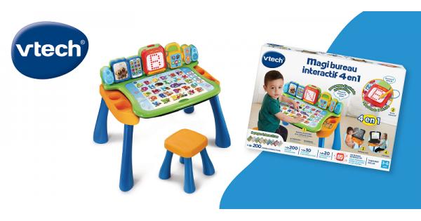 Concours Gagnez un Magi Bureau interactif 4 en 1 de VTech pour amuser et éduquer les enfants!