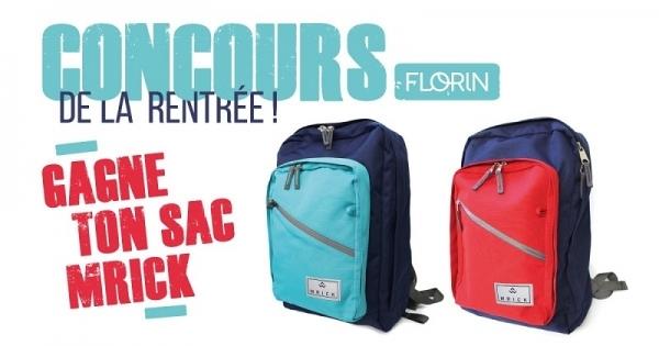 Concours Gagnez votre sac à dos MRICK 2 couleurs!