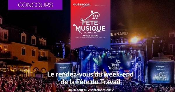 Concours Gagnez une escapade musicale à la Fête de la musique de Tremblant 2019!