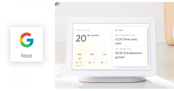 Concours Gagnez un appareil Google Nest Hub pour vous assister partout à la maison!
