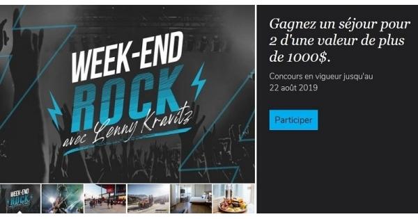 Concours Gagnez un Week-end rock avec Lenny Kravitz!