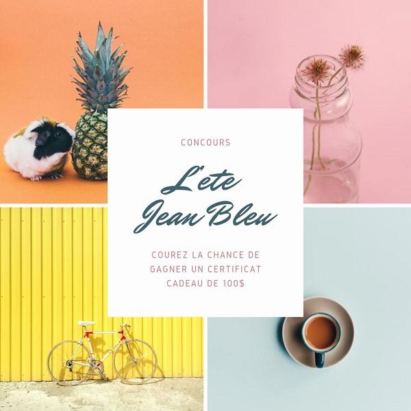 Concours Gagnez un certificat cadeau de 100$ chez le Jean Bleu!