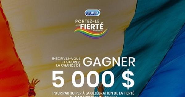 Concours Gagnez 5000$ pour un voyage à San Francisco afin d'assister au défilé de la Fierté de l'an prochain!