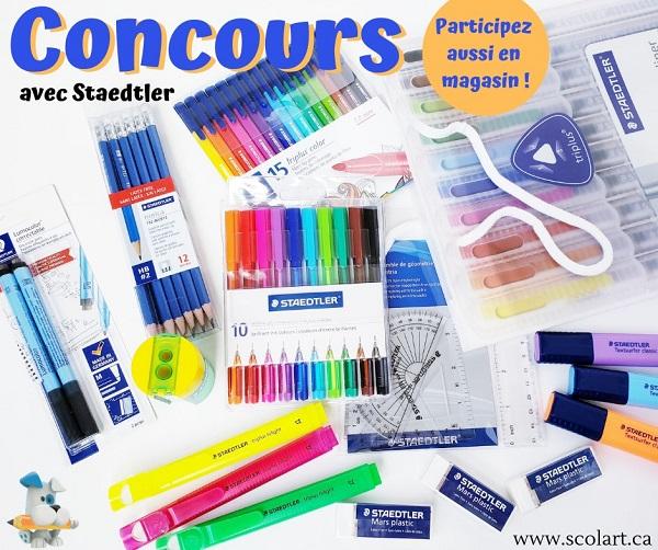 Concours Gagnez un ensemble de fournitures scolaires offert par Scolart!
