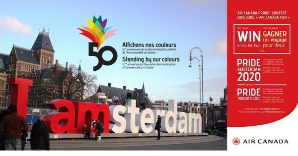 Concours Gagnez un voyage à l'une des plus grande célébration de la Fierté au monde : Pride Amsterdam 2020!