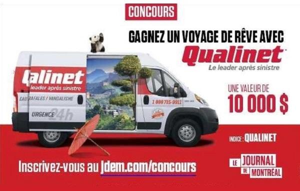 Concours Gagnez un voyage de rêve avec Qualinet et le Journal de Montréal!