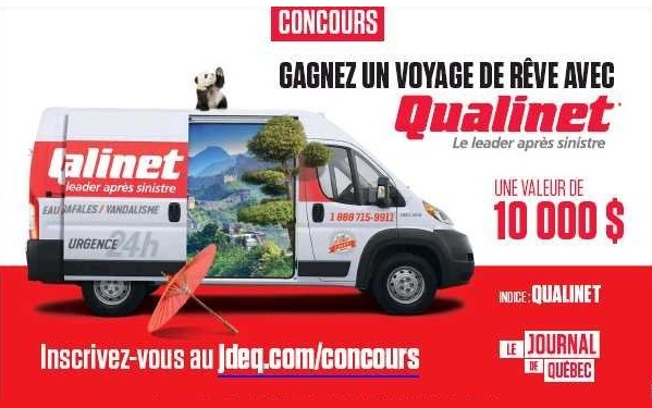 Concours Gagnez un voyage de rêve avec Qualinet et le Journal de Québec!