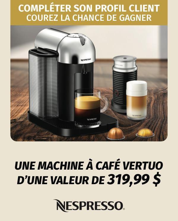 concours gagnez une machine caf vertuo de nespresso d. Black Bedroom Furniture Sets. Home Design Ideas