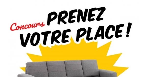 Concours Gagnez un sofa modulaire offert par EconoMax!