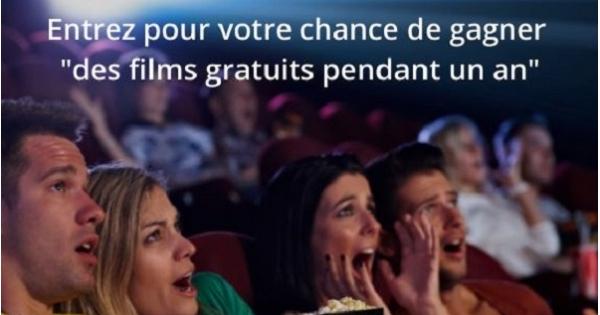 Concours Gagnez des films gratuits pendant un an!