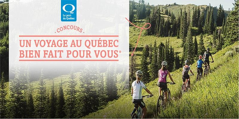 Concours Gagnez un voyage pour une famille de 4 personnes au Québec avec une escapade de deux jours à vélo!