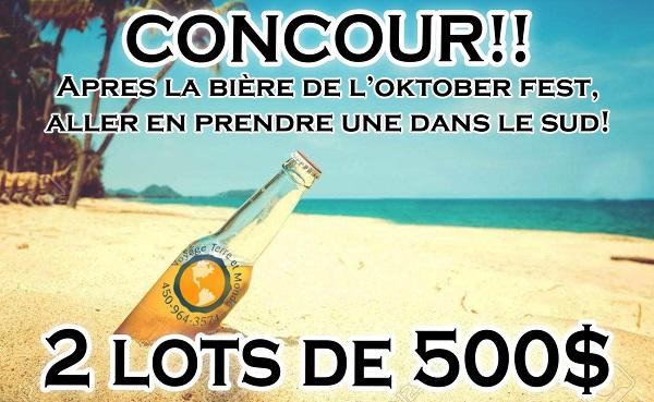 Concours Gagnez un des 2 gros lots de 500$ DE CRÉDIT VOYAGE!