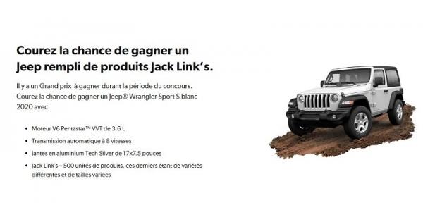 Concours Gagnez un Jeep rempli de produits Jack Link's!