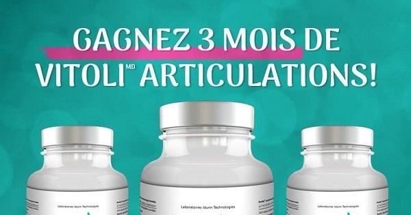Concours Gagnez 3 MOIS de Vitoli ARTICULATIONS!