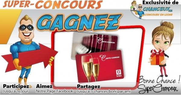 Concours Gagnez une Carte-Cadeau SAQ de 50 $