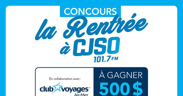 Concours Gagnez 500$ en crédit voyage!