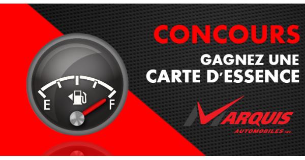 Concours Gagnez une carte d'essence de 50$!