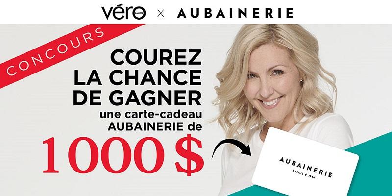 Concours 1000$ EN CARTE-CADEAU CHEZ AUBAINERIE POUR LA RENTRÉE!