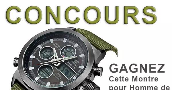 Concours Gagnez une montre pour homme de style militaire multifonction!